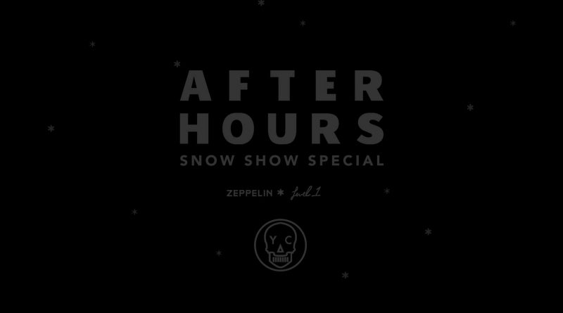 The Source Hotel After Hours Snow Show Flyer